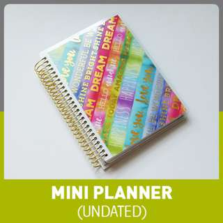 Watercolor Washi Mini Planner