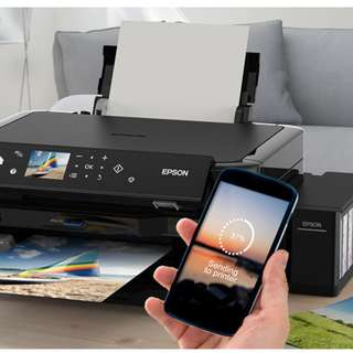EPSON L850 Ultra-low-cost printing Our first A4 6-colour ITS multifunction photo printer with an LCD screen, delivering low-cost and Epson-quality PC-less photo printing.