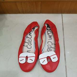 Sam Edelman Authentic Flat Red Shoes