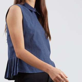 Croptop navy blue S atasan