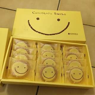 日本 菓風小舖 Sophisca 巧克力 微笑餅乾禮盒 12入