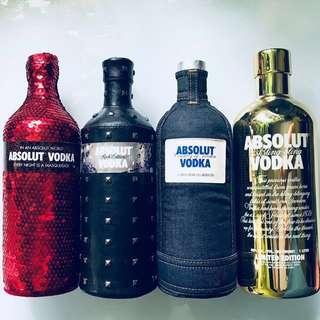 Casing/ Sleeves & Empty Absolut Bottles