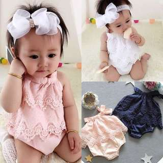 #101: Baby Girls Summer Lace Romper