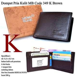 Dompet Cowok Monblank kulit code 349 K BROWN