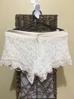 Sexy lacy shorts