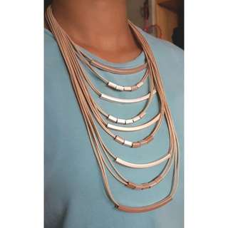 Multi-Row Rose Gold Necklace