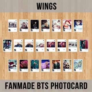 FANMADE BTS PHOTOCARD (WINGS)