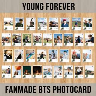 FANMADE BTS PHOTOCARD (YOUNG FOREVER)