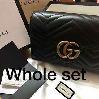 GUCCI 細袋Marmont matelassé mini bag 🖤💛