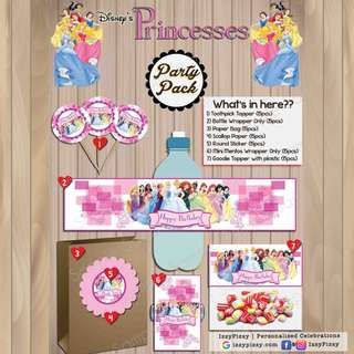 Disney Princess Kid's Birthday Party Pack