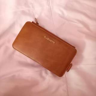 Leather WALLET and CARD HOLDER with detachable Phone Case