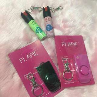 Pepper spray and plappie against rape whistle