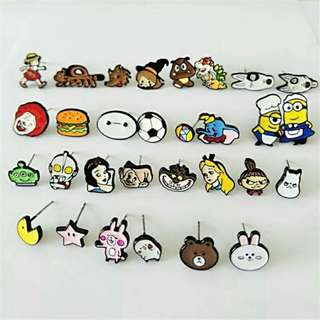 [BUY 2 FREE 1] Cute cartoon earring ear studs