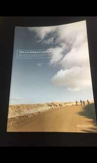 藍天白雲海灘單行簿拍子簿