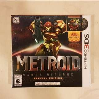 Metroid samus returns special edition nintendo 3ds