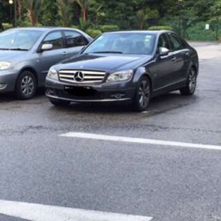 Mercedes C200 for rental