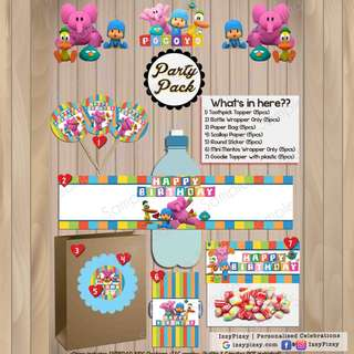Pocoyo Kid's Birthday Party Pack