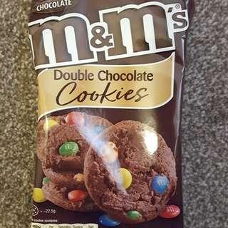 M & M double chocolate cookies