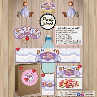 Princess Sofia The First Kid's Birthday Party Pack