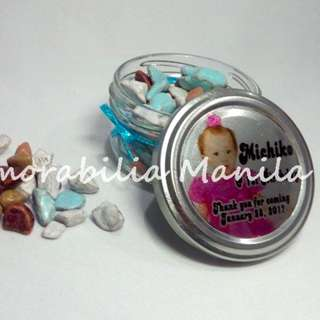 Round Jar Giveaway - Souvenir for Birthday Party/Baptism/Other Events