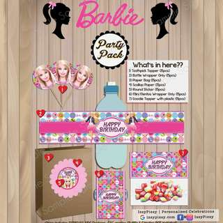 Barbie Kid's Birthday Party Pack