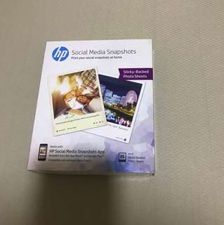 HP Photo Paper sticky back photo sheets