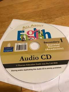 Audio CD : All about English Secondary 1 by Pearson Longman