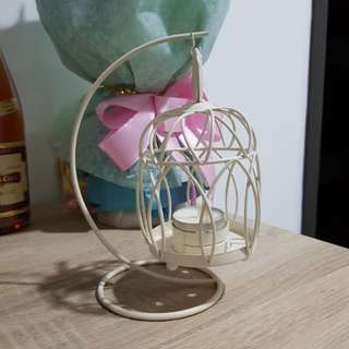 Wedding deco-bird cage candle holder