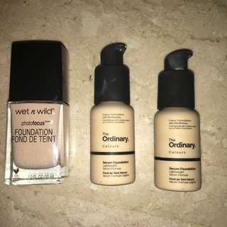 Wet n Wild | The Ordinary Foundations