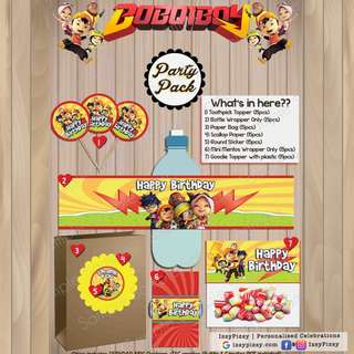 Boboiboy Kid's Birthday Party Pack