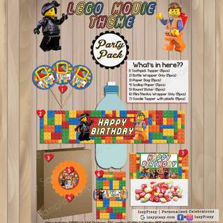 Lego Movie Kid's Birthday Party Pack