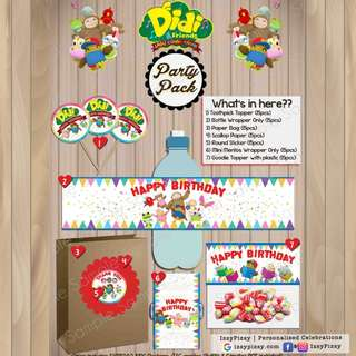Didi and Friends Kid's Birthday Party Pack
