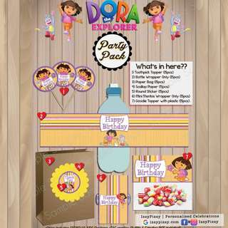 Dora The Explorer Kid's Birthday Party Pack