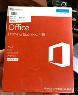Microsoft Office Home & Business 2016 PC (Sealed)