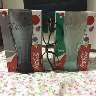 全新連盒可口可樂麥當勞玻璃水杯
