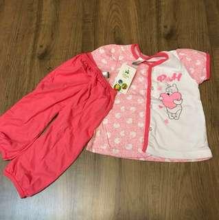 #Huat50sale BNWT Disney Baby Winnie the Pooh Baby Girl 2 pcs Pyjamas (Pink) 12-18 months