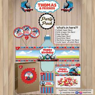 Thomas The Train Kid's Birthday Party Pack