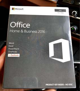 Microsoft Office Home & Business 2016 Mac (Sealed)