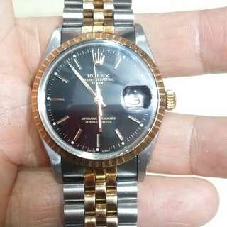 Rolex15053金鋼自動日曆34mm不連的