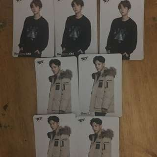 Exo-伯賢&Chen Yes Card