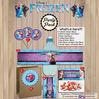 Disney Frozen Elsa and Anna Kid's Birthday Party Pack