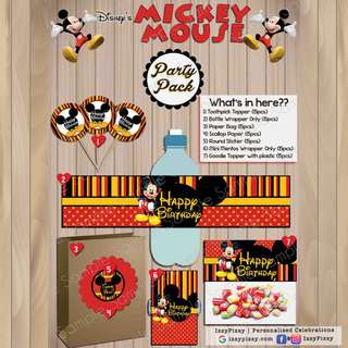 Mickey Mouse Kid's Birthday Party Pack