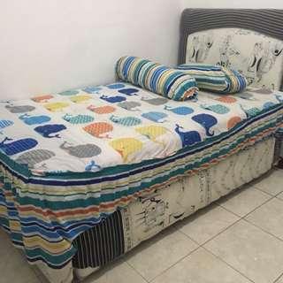 2 in 1 spring bed ranjang susun