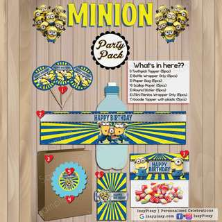 Minions Kid's Birthday Party Pack