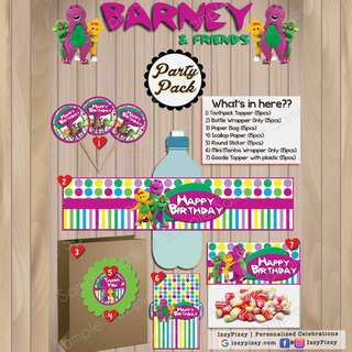 Barney and Friends Kid's Birthday Party Pack