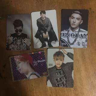 Kris&Tao&Rap Monster Yes Card