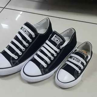 CONVERSE (FAMILY SET) 1800 only AVAILABLE COLORS: WHITE, BLACK, RED  1 pair for Daddy  1 pair for Mommy  1 pair for daughter/son  sizes for male: 40-45 sizes for female: 35-40 sizes for child: 25-34