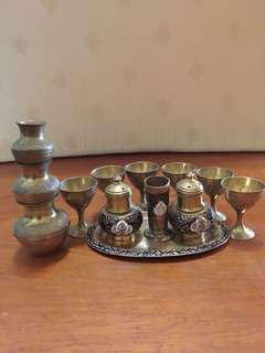 Miniature brass set