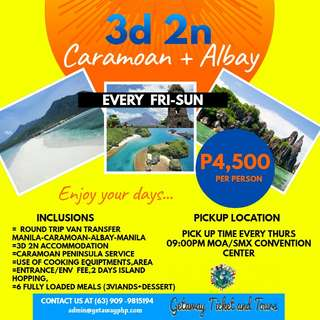 3d2n Caramoan + Albay Tour Package