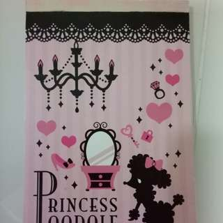 Princess Poodle A5 note book
